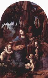 Леонардо да Винчи. Модонна в скалах