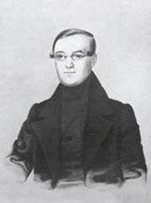 Сергей Николаевич Даргомыжский, отец композитора. Акварель Вагенгейма, 1839 г.